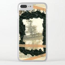 Dark Park Clear iPhone Case