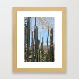 Cactus Glasshouse, greenhouse party with the cacti Framed Art Print
