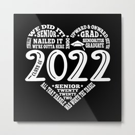 Class of 2022 Senior Graduation Design Metal Print