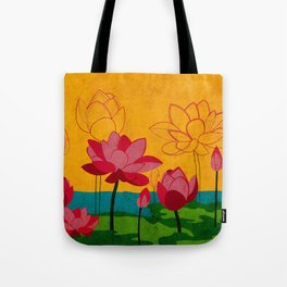 Flowers: lotus Tote Bag