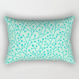 Berry Branches – Mint & Turquoise Palette Rectangular Pillow