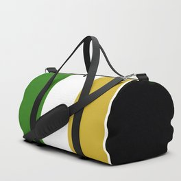 TEAM COLORS 8.....Green , gold and white Duffle Bag