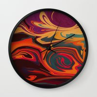 dc Wall Clocks featuring DC by Shelly Bremmer