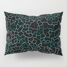 Aqua Crackle Pillow Sham