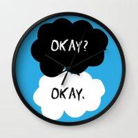 okay Wall Clocks featuring Okay by alboradas