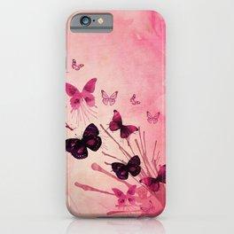 PINK BUTTERFLIES WATERCOLOR iPhone Case