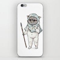 ewok iPhone & iPod Skins featuring Ewok Baby by Sophia B
