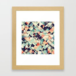 Jumble of Colors And Texture Framed Art Print