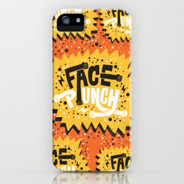 FACE PUNCH iPhone Case