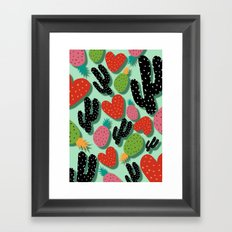 Cactus Love and Pineapples Framed Art Print
