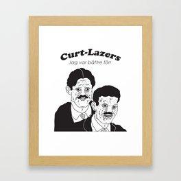 Curt Lazers - Jag var bättre förr Framed Art Print