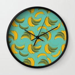 Costa Rican Bananas Wall Clock