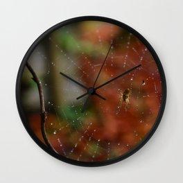 Toile en novembre. Wall Clock