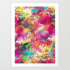 Random Paint Art Print