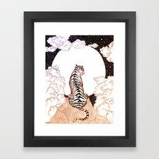 Tiger Moon Glow Framed Art Print