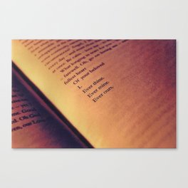 Love Letter Canvas Print