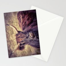 Long Horn Highland Cow Stationery Cards
