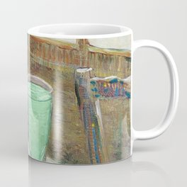 Drinking Absinthe Aperitifs in a Paris Cafe with Vincent still life portrait by Vincent van Gogh Coffee Mug