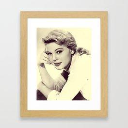 Betsy Palmer, Vintage Actress Framed Art Print