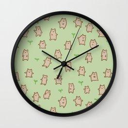 Tiny Bears Pattern Wall Clock