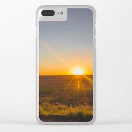 Prairie Wind Turbines, North Dakota 1 Clear iPhone Case