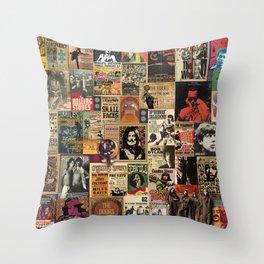 Rock'n Roll Stories Throw Pillow