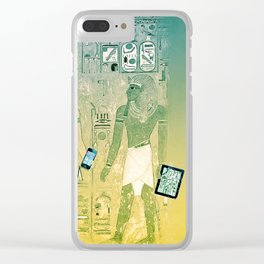 Ancient Egypt wireless, tablets and hieroglyphs Clear iPhone Case