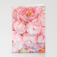 Stationery Cards featuring Tender bouquet by Kate Tova