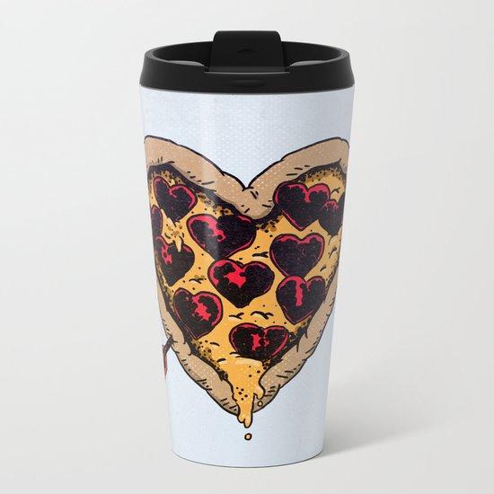 Pizza Love Metal Travel Mug