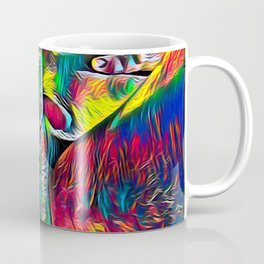 4281s-RES Abstract Pop Color Erotica Pleasuring Psychedelic Yoni Self Love Coffee Mug