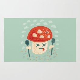 Funny Cartoon Poisoned Mushroom Rug