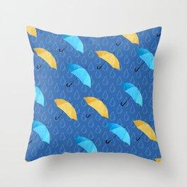 Spring Umbrellas fresh pattern Throw Pillow