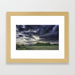 Angel Rays Framed Art Print