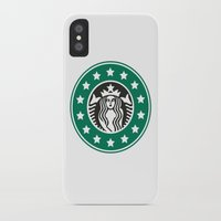 starbucks iPhone & iPod Cases featuring starbucks parody by Cream5