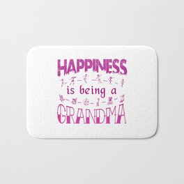 Happiness is Being a GRANDMA Bath Mat