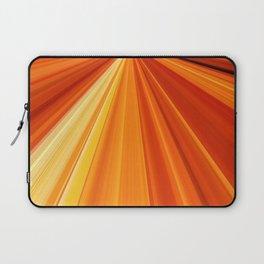 Bright Orange Sun Glare Laptop Sleeve