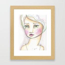 Dreamy Eyed Girl in Sherbert Framed Art Print