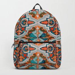 Seamless Floral Pattern Ornamental Tile Design  3 - Red Backpack