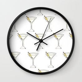 Itsy Bitsy 'Tinis // Watercolor Martini Pattern Wall Clock