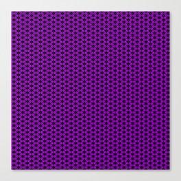 Purple Star Lattice Canvas Print