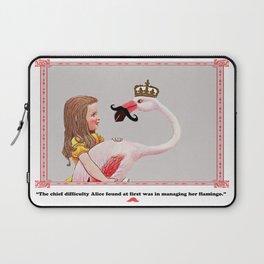 Alice and her Flamingo's mustache Laptop Sleeve