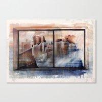 mirror Canvas Prints featuring mirror by Andreas Derebucha