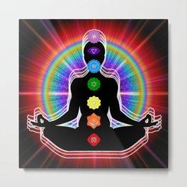 Chakra Meditation Metal Print