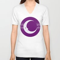 luna V-neck T-shirts featuring Luna by tuditees
