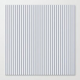 Dark Sargasso Blue Mattress Ticking Narrow Striped Pattern - Fall Fashion 2018 Canvas Print