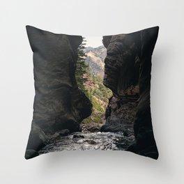 The Rush - Ouray, CO. Throw Pillow