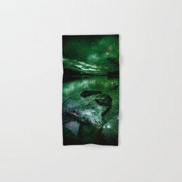 Magical Mountain Lake Deep Green Hand & Bath Towel