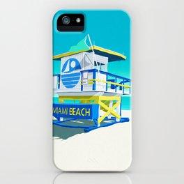 Miami Beach Hut iPhone Case