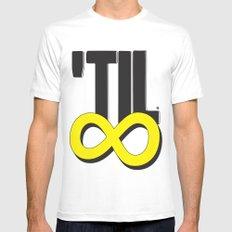 'til ∞ (infinity) MEDIUM White Mens Fitted Tee