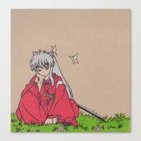 inuyasha Canvas Prints featuring InuYasha by MoonKitty Designs